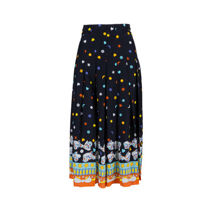 Authentic Second Hand Gucci Printed Pleated Skirt (PSS-414-00026)