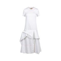 Contrast Stitch Layered Dress