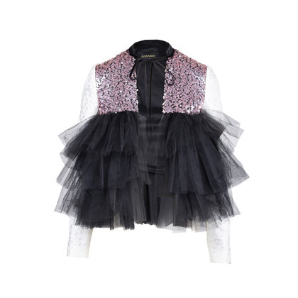 Authentic Second Hand Rasario Ruffle Tulle Sequin Jacket (PSS-414-00011)
