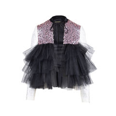 Ruffle Tulle Sequin Jacket