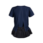 Authentic Second Hand Sacai Navy Pleated Top (PSS-414-00021) - Thumbnail 1