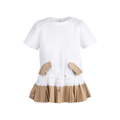 Authentic Second Hand Sacai White Pleated Top (PSS-414-00022)