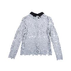 Self portrait lace crochet top grey 2?1549514399