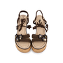 Authentic Pre Owned Louis Vuitton Lace Up Wedge Sandals (PSS-099-00024) - Thumbnail 0