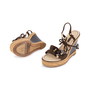 Authentic Pre Owned Louis Vuitton Lace Up Wedge Sandals (PSS-099-00024) - Thumbnail 1