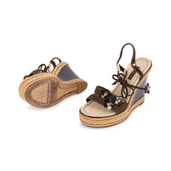 Louis vuitton lace up wedge sandals 2?1549526033