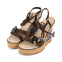 Authentic Pre Owned Louis Vuitton Lace Up Wedge Sandals (PSS-099-00024) - Thumbnail 3