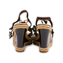 Authentic Pre Owned Louis Vuitton Lace Up Wedge Sandals (PSS-099-00024) - Thumbnail 5