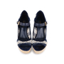 Authentic Second Hand Louis Vuitton Crochet Striped Espadrille Wedges (PSS-099-00025) - Thumbnail 0