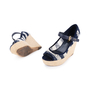 Authentic Second Hand Louis Vuitton Crochet Striped Espadrille Wedges (PSS-099-00025) - Thumbnail 1