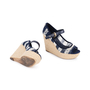Authentic Second Hand Louis Vuitton Crochet Striped Espadrille Wedges (PSS-099-00025) - Thumbnail 2