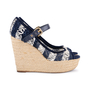 Authentic Second Hand Louis Vuitton Crochet Striped Espadrille Wedges (PSS-099-00025) - Thumbnail 4
