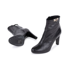 Hermes medor black buckle booties 2?1549525928
