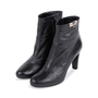 Authentic Second Hand Hermès Medor Black Buckle Booties (PSS-099-00027) - Thumbnail 3