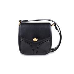 Black Sling Leather Satchel Bag