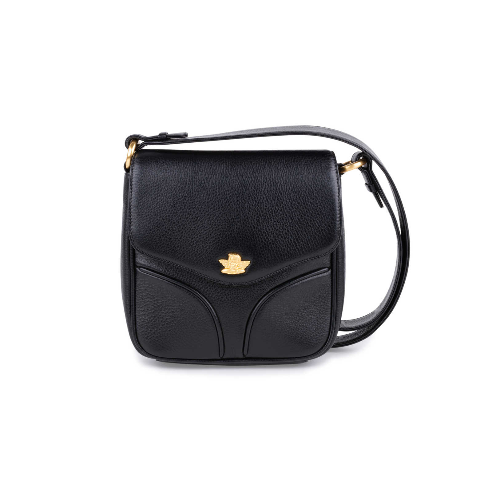 a9caab439319 Authentic Second Hand Comtesse When Angels Travel Black Sling Leather  Satchel Bag (PSS-099 ...