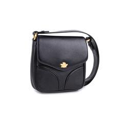 Comtesse when angels travel black sling leather satchel bag black 2?1549525958