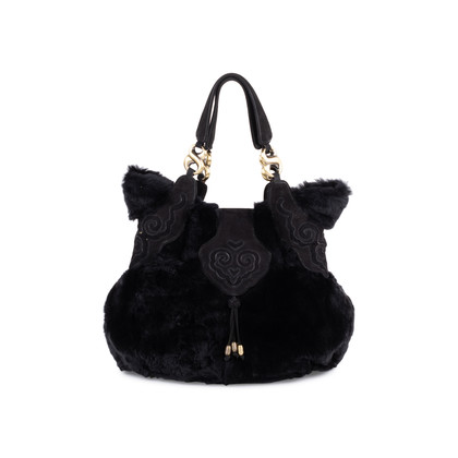 Authentic Second Hand Shanghai Tang Fur Shoulder Bag (PSS-099-00029)