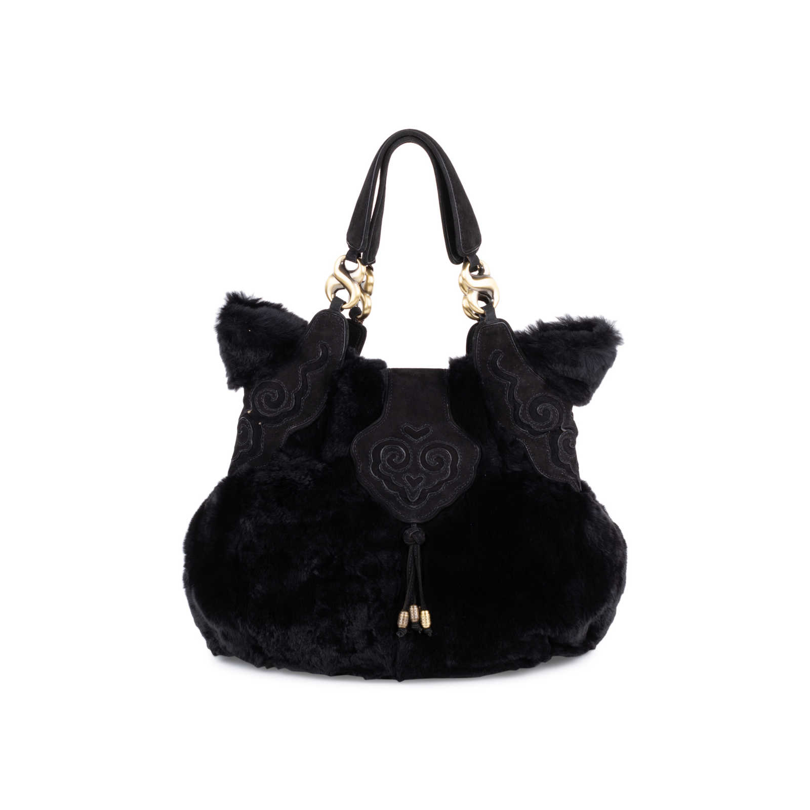 439887f531 Tap to expand · Authentic Second Hand Shanghai Tang Fur Shoulder Bag  (PSS-099-00029) ...