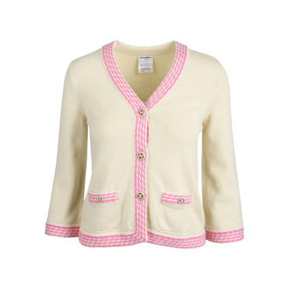 Authentic Second Hand Chanel Cropped Cashmere Cardigan (PSS-586-00006)