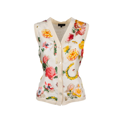 Authentic Pre Owned Gucci Silk Floral Vest (PSS-099-00033)