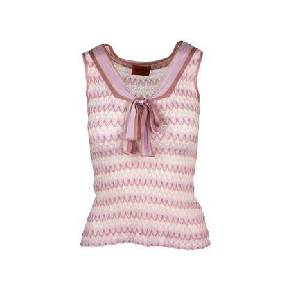 Authentic Second Hand Missoni Sleeveless Tie Knot Top (PSS-099-00034)