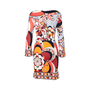 Authentic Pre Owned Emilio Pucci Low Cut Graphic Print Dress (PSS-097-00066) - Thumbnail 1