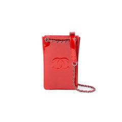 Metallic Patent Phone Holder