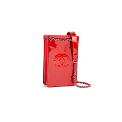 Chanel metallic patent phone holder 2?1549868659
