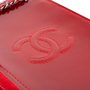 Authentic Second Hand Chanel Metallic Patent Phone Holder (PSS-034-00029) - Thumbnail 4