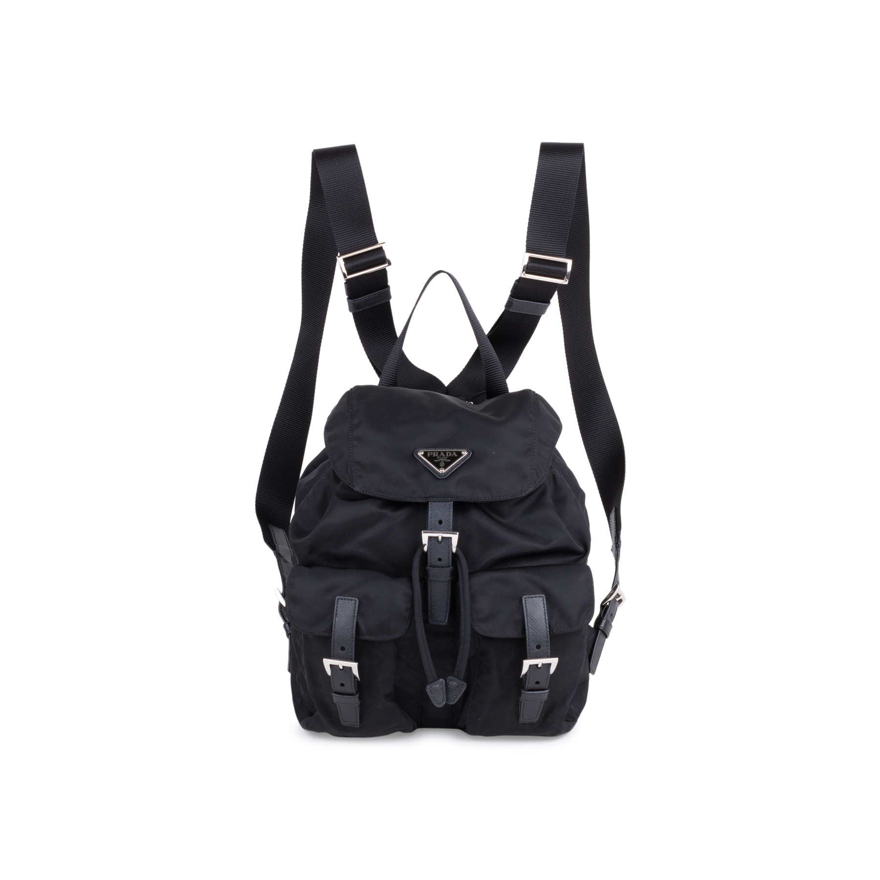 6736972bbf65 Authentic Second Hand Prada Small Vela Nylon Backpack (PSS-034-00031) | THE  FIFTH COLLECTION