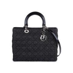 Denim Large Lady Dior Bag