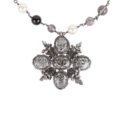Authentic Second Hand Chanel Paris Edinburgh Cross Necklace (PSS-600-00014)