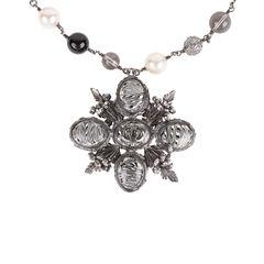 Paris Edinburgh Cross Necklace
