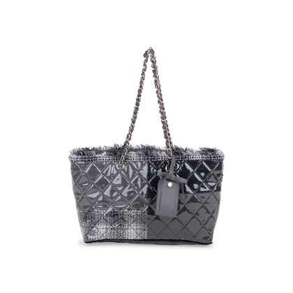 Authentic Second Hand Chanel Vinyl Funny Tweed Tote Bag (PSS-600-00018)