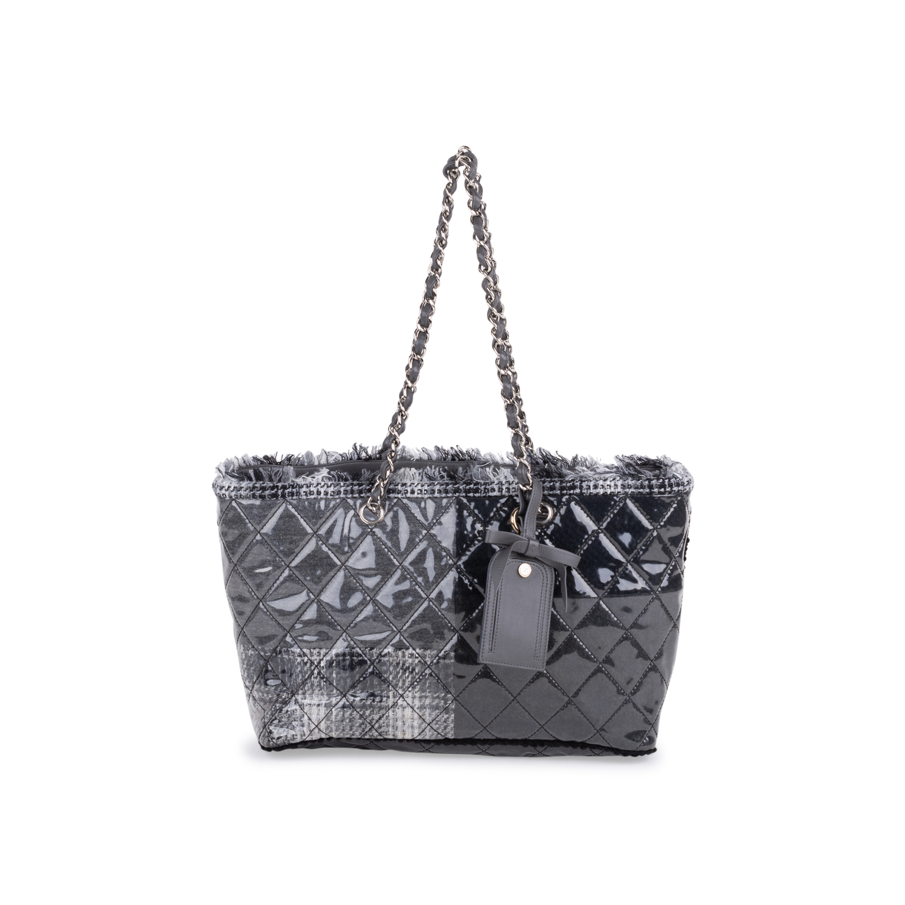 2fe92bb746f8bc Authentic Second Hand Chanel Vinyl Funny Tweed Tote Bag (PSS-600-00018) |  THE FIFTH COLLECTION