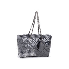 Chanel vinyl funny tweed tote bag 2?1549870339