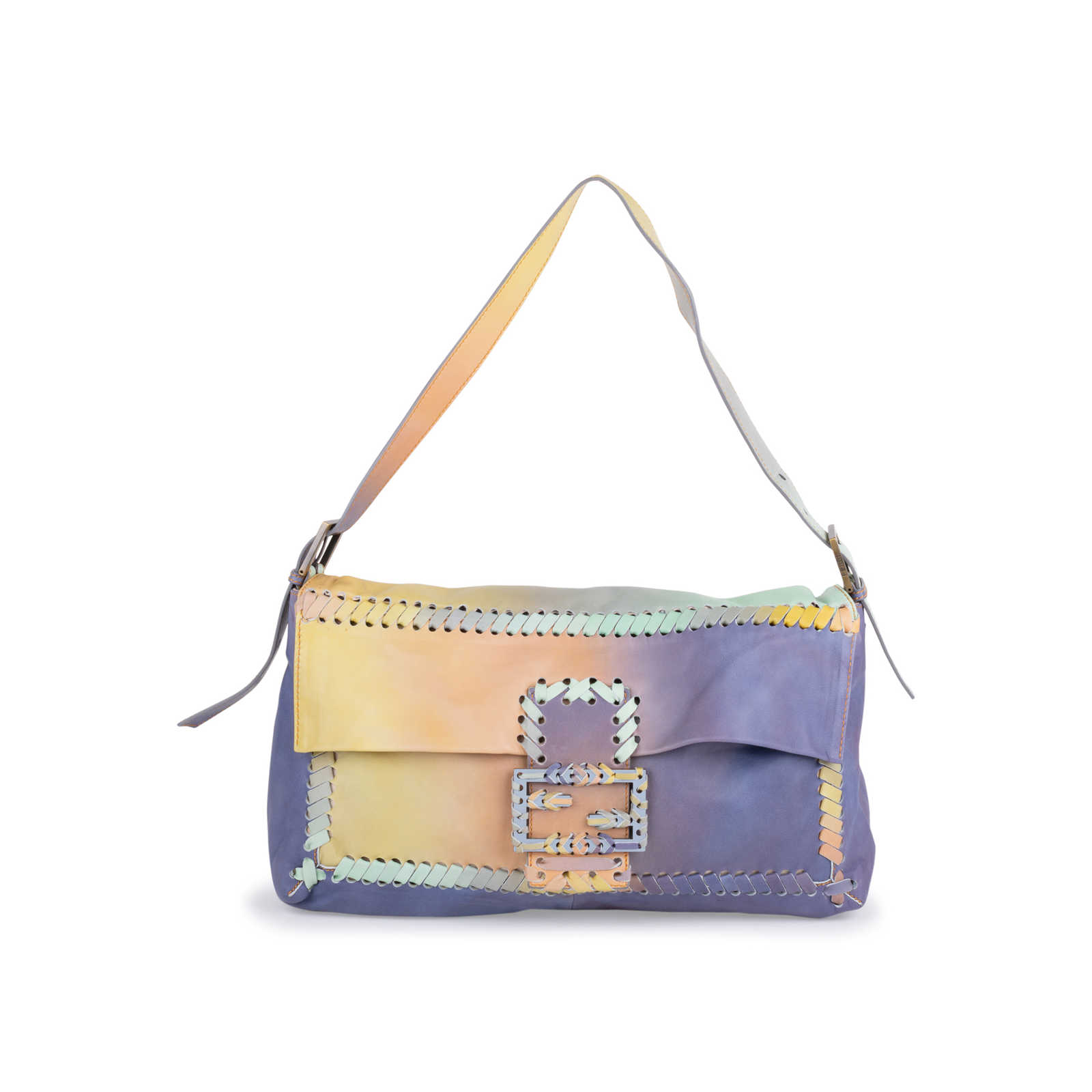 ece5f355b3ac Authentic Second Hand Fendi Whipstitch Giant Baguette (PSS-600-00019) -  Thumbnail ...