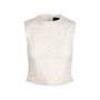 Authentic Second Hand Simone Rocha Floral Embroidered Mesh Blouse (PSS-034-00038) - Thumbnail 0