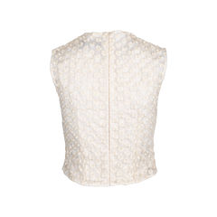 Simone rocha floral embroidered mesh blouse 2?1550030970