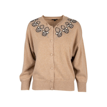 Authentic Second Hand Anne Klein Embellished Cashmere Cardigan (PSS-111-00007)