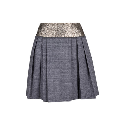 Authentic Second Hand Philosophy Di Alberta Ferretti Sequined Checkered Skirt (PSS-111-00019)