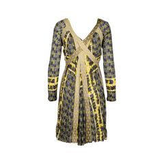 Jean paul gaultier printed long sleeve dress 2?1550033098