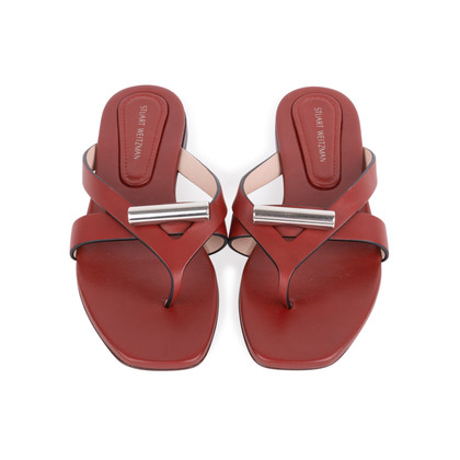 Authentic Second Hand Stuart Weitzman Leather Slides (PSS-375-00046)