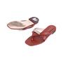 Authentic Second Hand Stuart Weitzman Leather Slides (PSS-375-00046) - Thumbnail 1