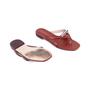 Authentic Second Hand Stuart Weitzman Leather Slides (PSS-375-00046) - Thumbnail 2