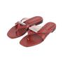 Authentic Second Hand Stuart Weitzman Leather Slides (PSS-375-00046) - Thumbnail 3