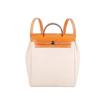 Authentic Vintage Hermès Herbag Ado Backpack 2 in 1 (PSS-613-00004)