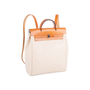Authentic Vintage Hermès Herbag Ado Backpack 2 in 1 (PSS-613-00004) - Thumbnail 2
