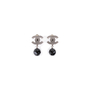 Authentic Second Hand Chanel 'CC' Logo Dangle Earrings (PSS-613-00010) - Thumbnail 0